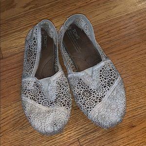 Toms crochet slip on shoes